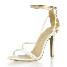 Kvinder Plast Stiletto Hæl sandaler Pumps Kigge Tå med Spænde sko