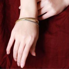 Enkle Legering Ladies ' Mode Armbånd (Sæt af 3)