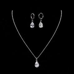 Elegante Liga/Zircon com Zirconia cúbico Senhoras Conjuntos de jóias
