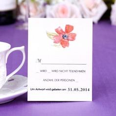 Personalizado Diseño Floral Perlas del papel Tarjetas de la Respuesta (Juego de 50)