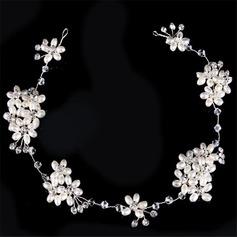 Elegant Strass/Fauxen Pärla Pannband (Säljs i ett enda stycke)