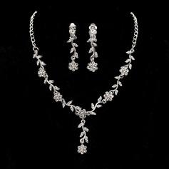 Elegante Liga com Zirconia cúbico Senhoras Conjuntos de jóias