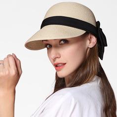 Senhoras Simples/Fantasia Papiro com Bowknot Chapéu de palha/Chapéus praia / sol