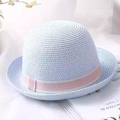 Señoras' Hermoso Ratán paja con Bowknot Bombín / cloché Sombrero/Sombrero de paja