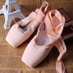Женщины Холст Обувь Пуанты Обувь для танцев