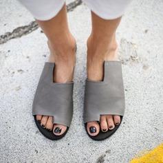 Naisten PU Matalakorkoiset Heel Sandaalit Matalakorkoiset Peep toe jossa Muut kengät (087205686)
