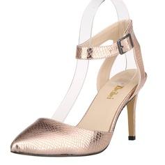 Vrouwen Kunstleer Stiletto Heel Pumps Closed Toe met Dier Afdrukken schoenen