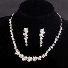 Romántico Aleación/Diamantes de imitación/La perla de faux con Rhinestone/La perla de faux Señoras' Sistemas de la joyería