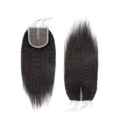 """4""""*4"""" 4A Nicht remy Verworrene gerade Menschliches Haar Bedeckung (Einzelstück verkauft)"""