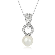 Charming Platinum Plated With Pearl Ladies' Necklaces (011053801)