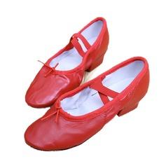 Kvinnor Äkta läder Klackar Ballet Dansskor