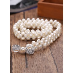 Fashional Imitation Pearls Belt With Rhinestones