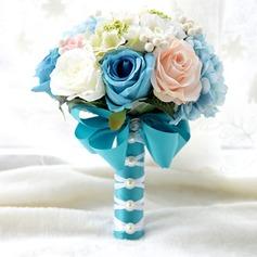 Attrayant Soie artificielle Bouquets de mariée/Bouquets de demoiselle d'honneur -