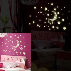 Luminous Wall Stickers Glow in The Dark Sticker Luminous Stars Color Wall Decals for Kids Room (Sold in a single piece)