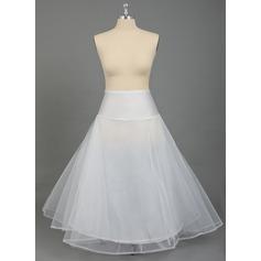 Women Nylon/Tulle Netting 2 Tiers Plus Size Petticoats