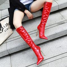 Patent Leather Stiletto Heel Flats Wedges Flip Flops Rijlaarzen schoenen