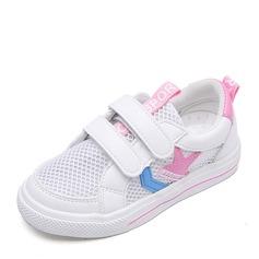 Unisex Closed Toe Mesh Flat Heel Sneakers & Athletic With Velcro Printing
