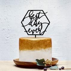 """""""Meilleur jour de ma vie"""" Acrylique Décoration pour gâteaux"""