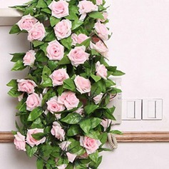 Rosa vinha Flor de seda (conjunto de 2)