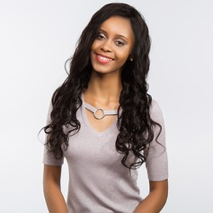4A Non remy Loose Wavy Human Hair Full Lace Wigs 170g