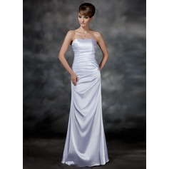 Sheath/Column Sweetheart Floor-Length Charmeuse Evening Dress With Ruffle