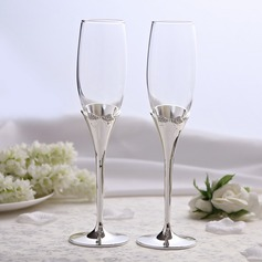 Bowknot design Lead-free Glass/Aluminum Toasting Flutes (Set Of 2) (126051241)