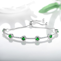 Anti-oxidatie Fijne ketting Bruidsmeisje armbanden Bolo armbanden met Kubieke Zirkonia -