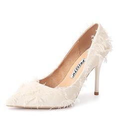Mulheres Tecido Salto agulha Bombas sapatos