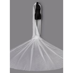 One-tier Cut Edge Chapel Bridal Veils