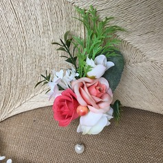 Round Imitation Pearl Boutonniere (Sold in a single piece) -