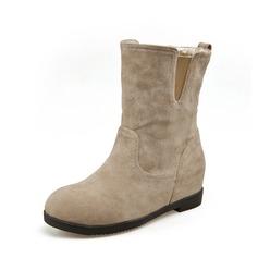 Mulheres Camurça Plataforma Bota no tornozelo sapatos