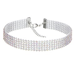 Simple Alliage/Strass Dames Colliers