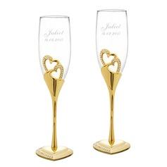 personalisé Conception de coeur Alliage Verre Flûtes à champagne (2 pièces) (129061694)