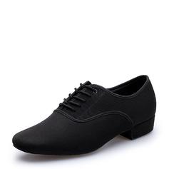 Мужская Холст Латино Практика Обувь для танцев