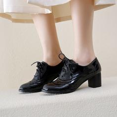 Женщины Лакированная кожа Устойчивый каблук На каблуках أحذية