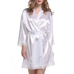 Braut Brautjungfern Polyester mit Kurz Roben aus Satin und Spitze