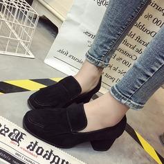 Frauen Veloursleder Stämmiger Absatz Absatzschuhe Geschlossene Zehe mit Quaste Schuhe