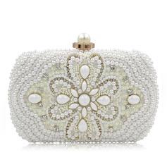 Zarte Perlstickerei Handtaschen