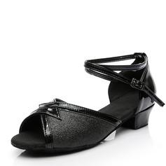 Women's Sparkling Glitter Flats Latin Dance Shoes