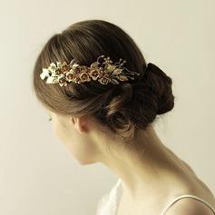 Elegante cobre Peines y pasador (Se venden en una sola pieza)