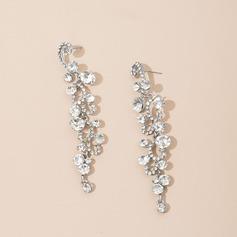 Pretty Alloy/Rhinestones Ladies' Earrings