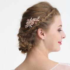 Damen Klassische Art Strass/Legierung/Faux-Perlen Kämme und Haarspangen mit Strass/Venezianischen Perle (In Einem Stück Verkauft)