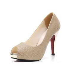 Femmes Similicuir Talon stiletto Sandales À bout ouvert chaussures