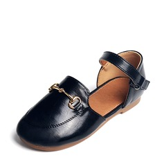 Girl's Leatherette Flat Heel Closed Toe Flats