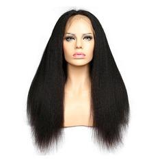 Indisk Straight Mänskligt hår Mänskligt hår Lace Front Parykar