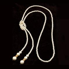 великолепный сплав с Имитация Перл горный хрусталь женские ожерелье
