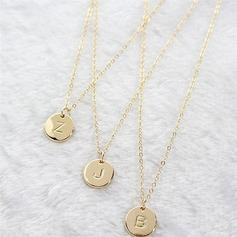 Attractive Alloy Initial Necklaces Necklaces For Bride/For Bridesmaid