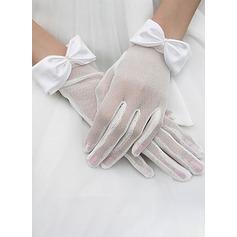 Nylon Handgelenk Länge Braut Handschuhe