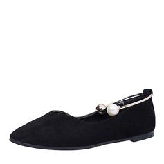De mujer Ante Tacón plano Planos Cerrados con Perlas de imitación zapatos