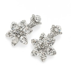 Snowflakes Shaped Alloy/Rhinestones Ladies' Earrings